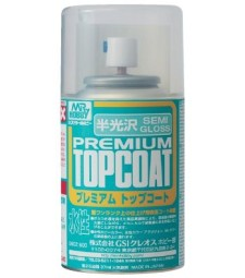 B-602 Полуглансцов лак Mr. Premium Top Coat Semi-Gloss (86 ml)