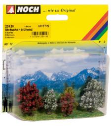 Разцъфнали храсти - 5 бр. 3 - 4 cm
