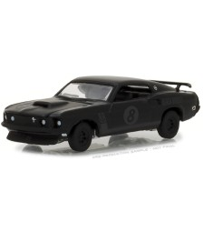 1969 Ford Mustang Black Bandit Trans Am Racing Team Solid Pack - Black Bandit Series 19