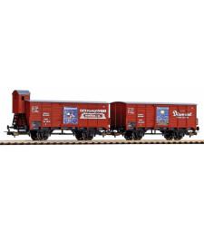 """Комплект от 2 товарни вагона G02 """"Диамант"""" DRG, епоха II"""
