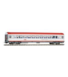 Пътнически вагон, ÖBB EC, дизайн в сиво и червено, епоха V