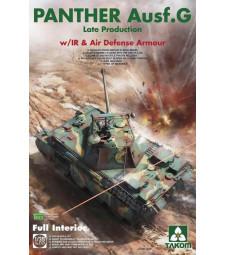 1:35 Германски среден танк Panther Ausf.G, късно производство, брониран, Втора световна война (WWII German medium Tank Panther Ausf.G late production w/ IR &Air Defense Armour)