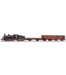 FS Стартов комплект от парен локомотивFS 421 с 3 товарни вагона, епоха III