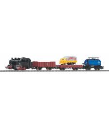 Стартов сет от товарен влак на DB, релсов път PIKO A с основа