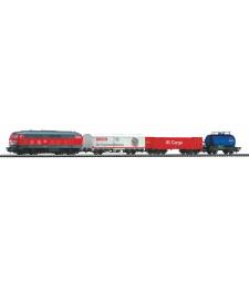 Стартов комплект товарен влак DB Cargo, с релсов път PIKO A-Track и основа