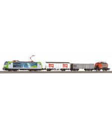Стартов комплект SmartControl light S-Set BLS Re 485 с 3 товарни вагона и релсов път A-Track с основа