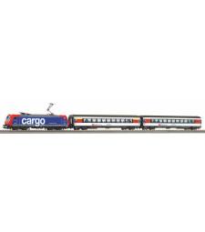 Стартов комплект SmartControl light, SBB EC Re 484 с три вагона и релсов път с основа PIKO A-Track
