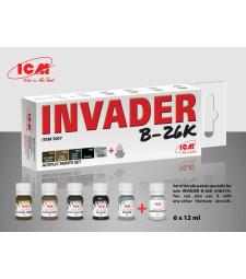 Комплект акрилни бои за Invader B-26K (и други самолети от Виетнамската война) (6x12 ml)
