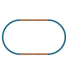 Основа за Стартов сет релсов път A + 4 прави G 231