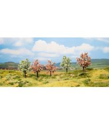 Плодово дърво, цъфтящо - височина 8 см, 5 броя - TREE CUBE
