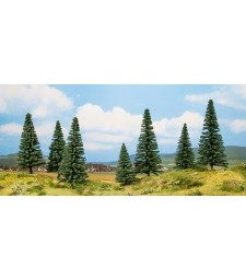 Елхови дървета - високи 8 и 14 см, 7 броя - TREE CUBE
