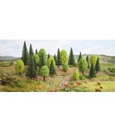 Смесени горски дървета - височина 5 - 9 см, 15 броя - TREE CUBE