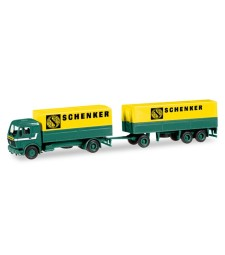 "Mercedes-Benz canvas cover trailer ""Schenker"""