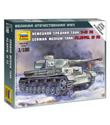 1:100 Германски среден танк Panzer IV - сглобка без лепило