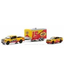 2015 Ford F-150 & 2012 Shelby GT500 Pennzoil with Enclosed Car Hauler Solid Pack - Racing Hitch & Tow Series 1