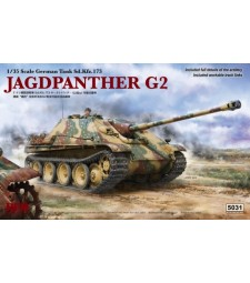 1:35 Германски танк JAGDPANTHER G2 с работещи вериги