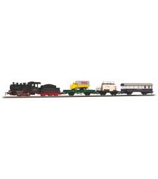 Стартов сет от товарен влак с парен локомотив на SZD (Съветски железници)
