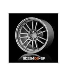 1:64 Комплект състезателни гуми и джанти 8MM-9.8MM SILVER - 4 броя