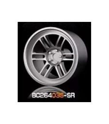 1:64 Комплект състезателни гуми и джанти 7.4MM-8.9MM SILVER - 4 броя
