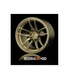 1:64 Комплект състезателни гуми и джанти 8MM-9.8MM GOLD - 4 броя