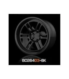 1:64 Комплект състезателни гуми и джанти 8MM-9.8MM GLOSS BLACK - 4 броя
