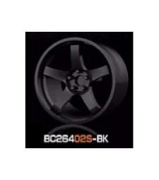 1:64 Комплект състезателни гуми и джанти 7.4MM-8.9MM GLOSS BLACK - 4 броя