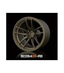 1:64 Комплект състезателни гуми и джанти 8MM-9.8MM BRONZE - 4 броя