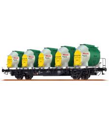 H0 Товарен вагон с контейнери Lbs 589 DB, IV, Knorr