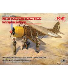 1:32 CR. 42 Falco с италиански пилоти в тропическа униформа