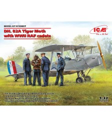 1:32 DH. 82A Tiger Moth with WWII RAF cadets