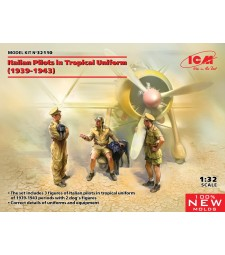 1:32 Италиански пилоти в тропическа униформа (1939-1943) (100% нови матрици)