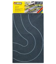 Федерален асфалт, пътна крива, 2 броя, всеки 8 см широк