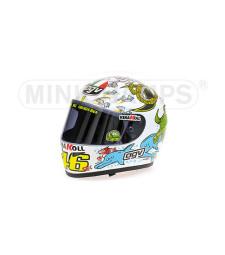 1:2   AGV HELMET - VALENTINO ROSSI - WORLD CHAMPION MOTO GP VALENCIA - 2005