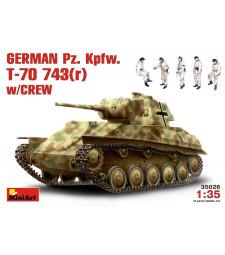 1:35 Германски танк Т-70 743 с екипаж - 5 фигури (German Pz.Kpfw. T-70743(r) w/ Crew)