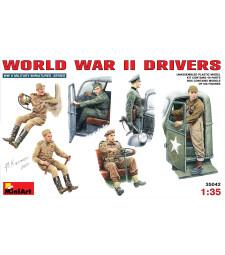 1:35 Шофьори от периода на Втората световна война - 6 фигури