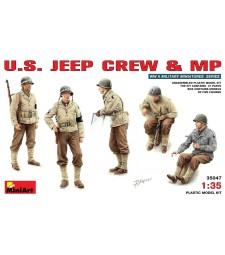 1:35 Екипаж на военен Джип на САЩ - 5 фигури