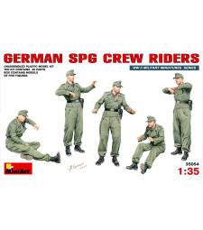 1:35 Германски екипаж на SPG (German SPG Crew Riders) - 5 фигури