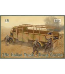 1:35 Италиански камион за превоз на войски 3RO Italian Truck Troop Carrier