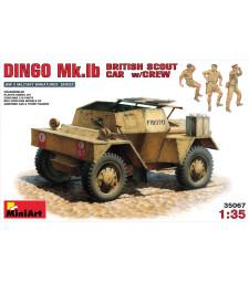 1:35 Британска бронирана разузнавателна кола Dingo MK. 1б - 3 фигури