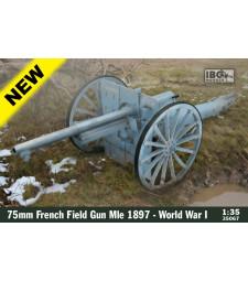 1:35 Френско полево оръдие 75mm French Field Gun Mle 1897 - Първа световна война