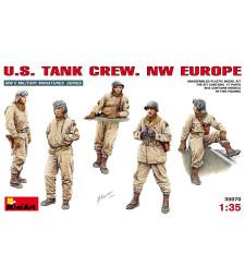 1:35 Американски танков екипаж NW EUROPE - 5 фигури