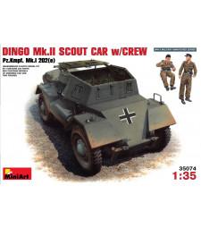 1:35 Германска бронирана разузнавателна кола Dingo Mk II (Panzerkampfwagen Mk 1202(e) с екипаж - 2 фигури