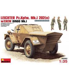 1:35 Германска бронирана разузнавателна кола Leichter Pz. Kpfw. Mk 1202 (e). с екипаж- 3 фигури