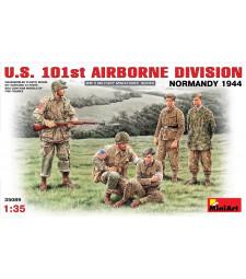 1:35 Американска 101-ва въздушна дивизия (Нормандия 1944 г.) - 5 фигури