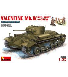 1:35 Пехотен танк Valentine Mk.4 използван от Червената армия с екипаж