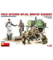 1:35 Полева кухня KP-42 - зимна обстановка - 6 фигури