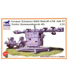 1:35 Германски противовъздушен насочващ апарат  KDO Mod.40 и ремарке Sd.Anh 52