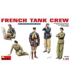 1:35 Френски танков екипаж - 5 фигури