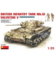 1:35 Британската пехотен танк Mk.3 Valentine Mk. 5 - 2 фигури