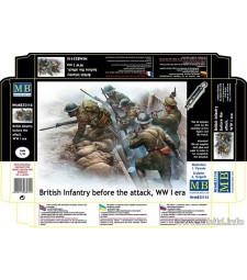 1:35 Британски войници - Преди атаката - 7 фигури (British infantry before the attack, WW II era - 7 figures)